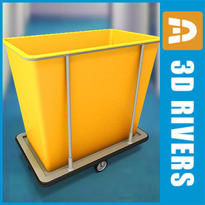 3d model laundry cart