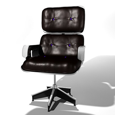 3d model stylish leather chair