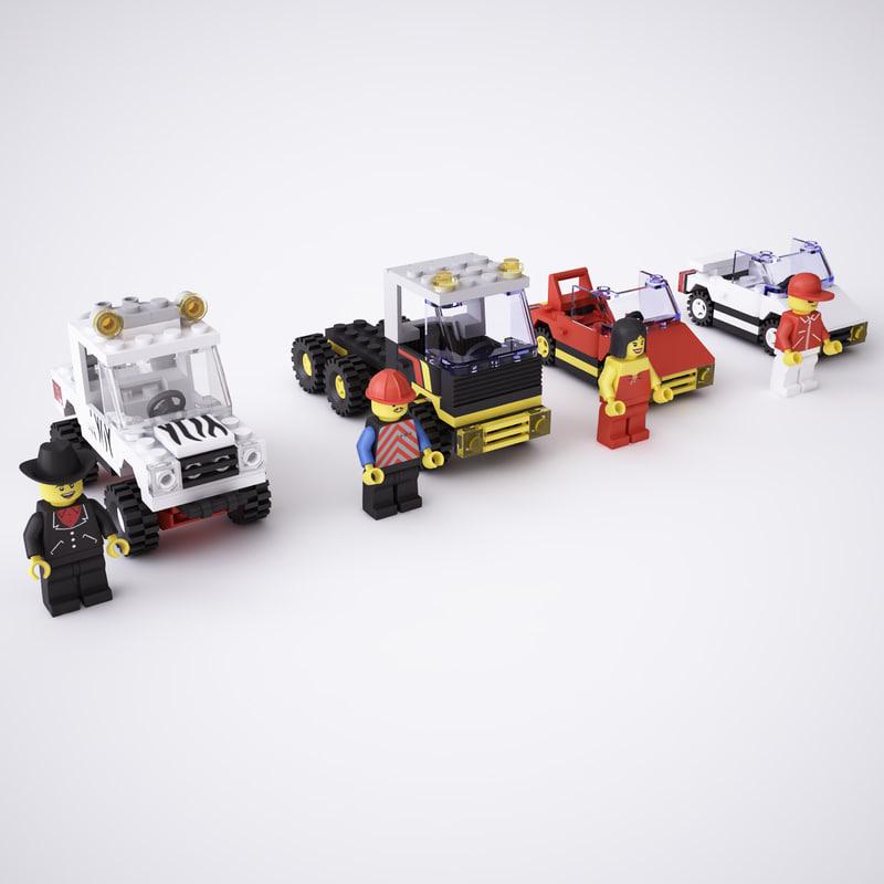 3d lego street vehicles