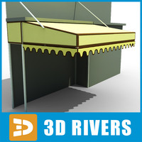 market tent 3d 3ds