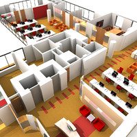 3d model office interior