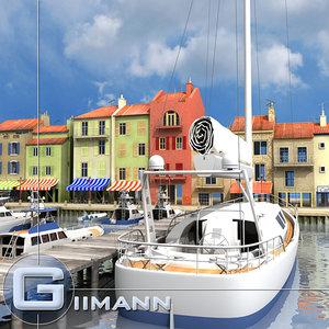 3ds max seaside port