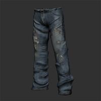 jeans pants 3d obj