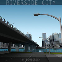 definition city river 3d model