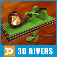 3d model of saint patrick day pipe