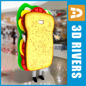 3ds max promotional sandwich costume