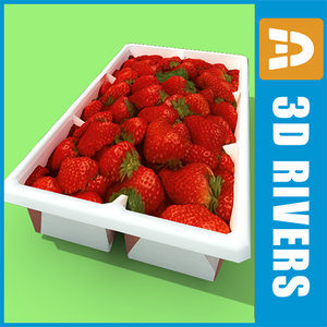 3d max box strawberries