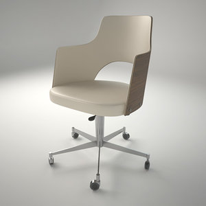 3d model lammhults cortina easy chair