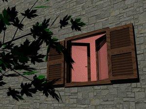 3d model italian window
