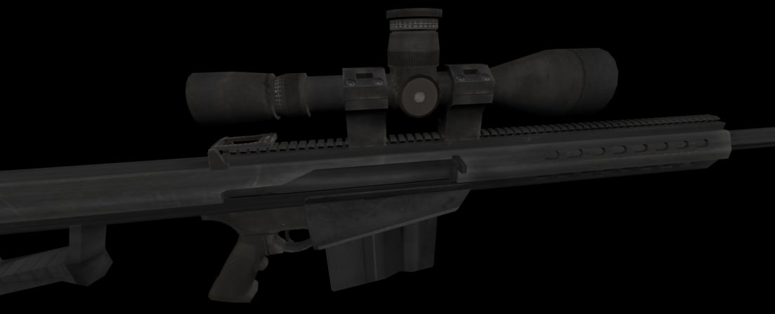 3ds max barrett 50 caliber sniper