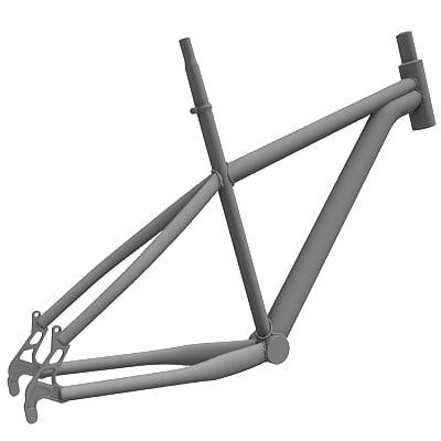 3d model bike frame