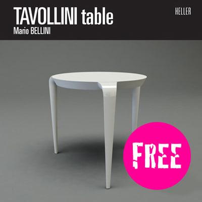 free tavollini table design 3d model