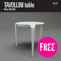 free tavollini table design 3d model