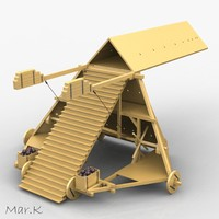 3d leonardo da siege machine model
