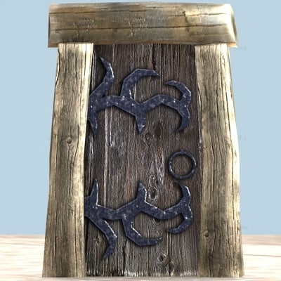 old wooden door max