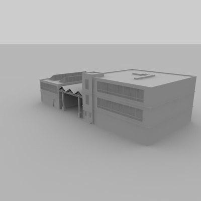 free c4d model fabrik factory
