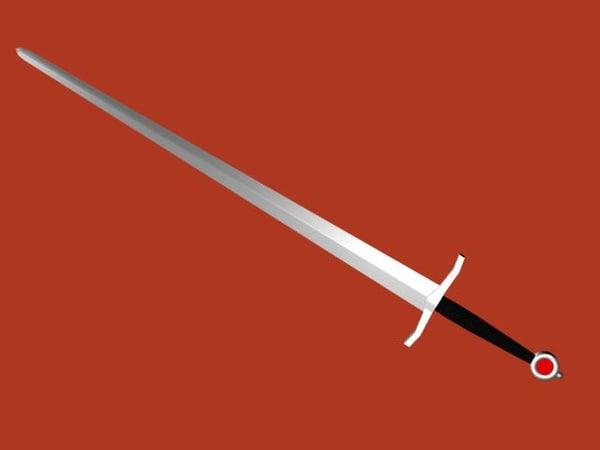 midieval sword 3d model