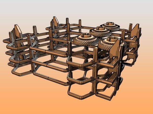automobil factory 3d model