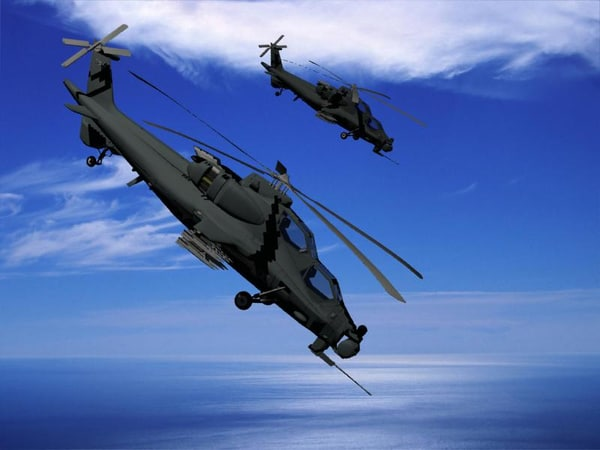 z-10 attack helicopter 3d model