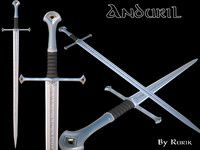 3d anduril sword aragorn