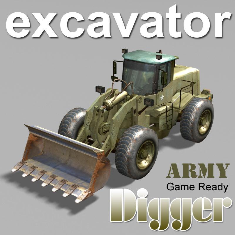 3d army excavator