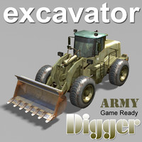 US Army Excavator Digger