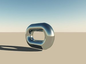 steel chain link 3d model