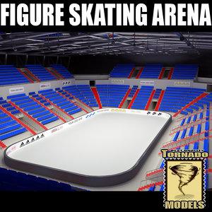 figure skating arena 3d lwo