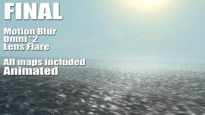 3d lit ocean