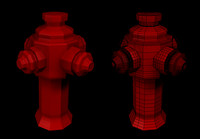 red hydrant 3d 3ds
