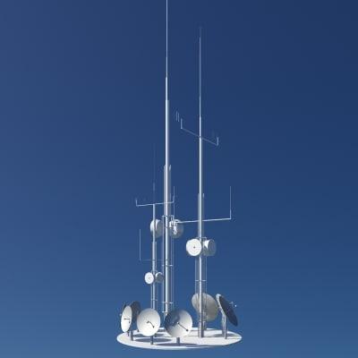 3d antenna installation model