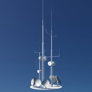 3d antenna installation model