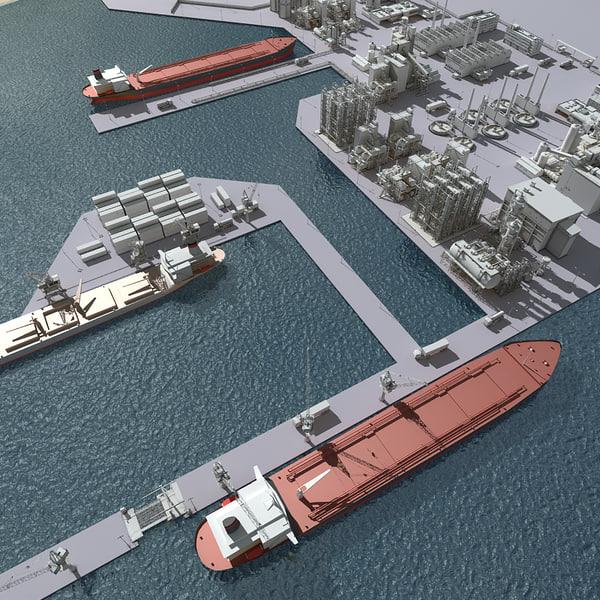 port harbour 3d model