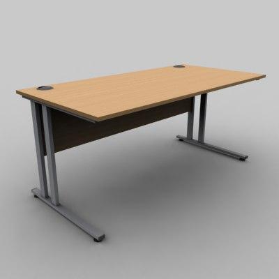 office desk 3d 3ds