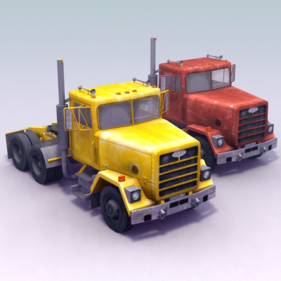 fld120 semi truck 3d 3ds