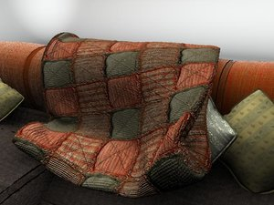 contemporary couch afghan 3d 3ds