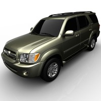 3d model toyota sequoia