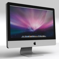 3d apple imac led 21