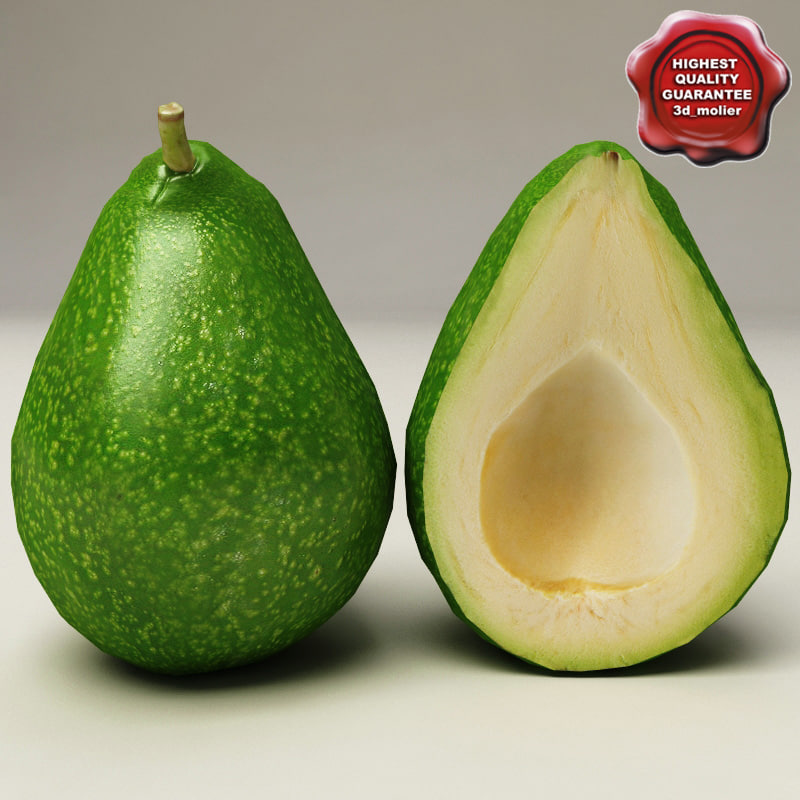 3d model avocado modelled