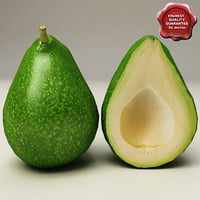 3d model avocado modelled