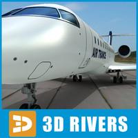 3d model bombardier challenger 850