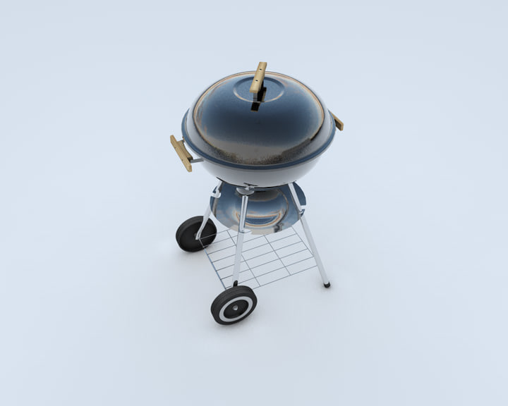 3d model of kettle cooker bbq
