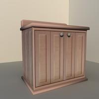 3d cabinet hutch