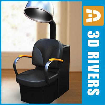 3d chair dryer hair