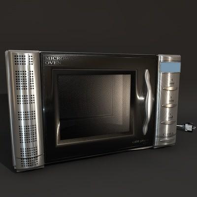 microwave oven 3d c4d
