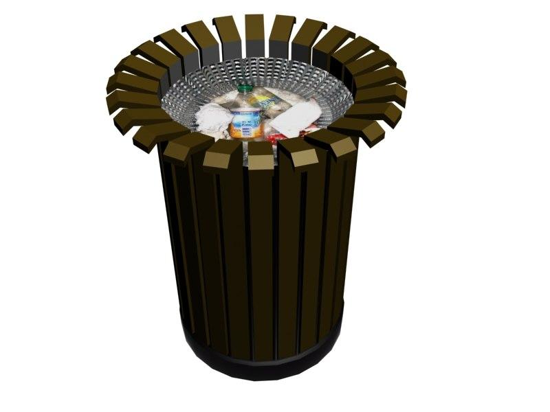3d city trash