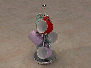 stand mugs 3d model