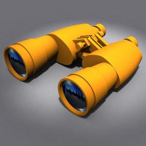 3d toy binoculars model