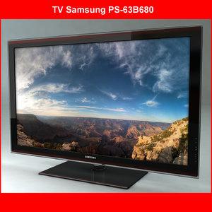 3d tv samsung ps-63b680 model