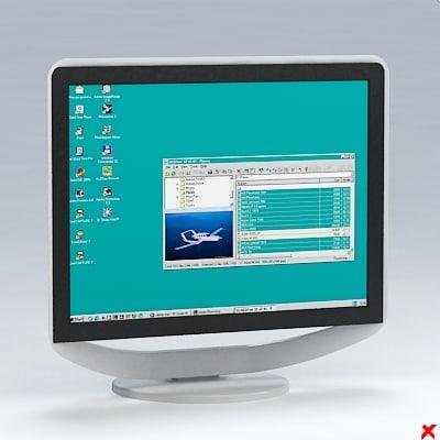 3d model screen computer